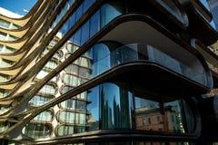 从Highline和独特的建筑学的纽约Scape 免版税库存照片