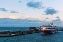 从Hirtshal的巡航轮渡 免版税库存照片