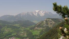 从Hohe鞭子,奥地利的施内山 库存图片