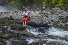 从Ifugao少数族裔的女孩在菲律宾 库存图片