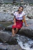 从Ifugao少数族裔的女孩在菲律宾 免版税图库摄影
