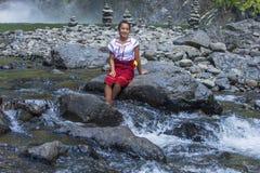 从Ifugao少数族裔的女孩在菲律宾 库存照片