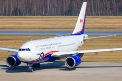 从Kanada空军队的空中客车A310 免版税库存照片