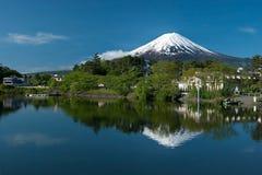 从Kawaguchiko湖的挂接富士在日本 免版税图库摄影