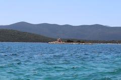 从Klek海滩的看法 库存照片