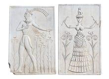 从Knossos的古老匾,克利特,希腊 免版税库存照片