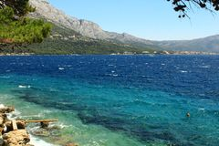 从Korchula海岛的看法 免版税库存图片