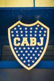 从La bombonera体育场的细节在布宜诺斯艾利斯,阿根廷 库存照片