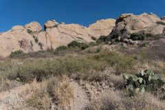 从La Cueva足迹的看法 免版税库存照片