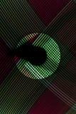 从LED光的抽象线与在黑背景的镜子 免版税图库摄影