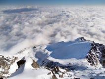 从Lomnicky峰顶的视图在冬天期间 免版税库存图片