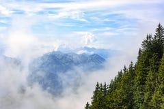 从Lucern,瑞士的瑞士阿尔卑斯山脉 免版税库存图片