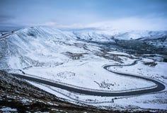 从Mam突岩的冬天视图 免版税库存图片