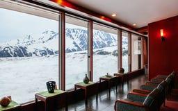 从Midagahara旅馆葡萄酒大厅-馆山Ku的雪风景 免版税库存图片