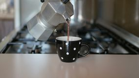 从moka罐倒的咖啡 股票录像