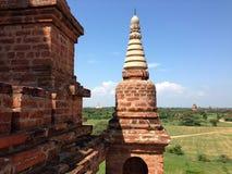 从Myauk Guni寺庙的看法 库存图片