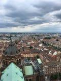 从Notre Dame de史特拉斯堡的顶端看法 库存图片