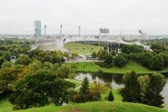 从Olimpiaberg的一个看法到Olimpic公园,慕尼黑,德国 免版税库存图片