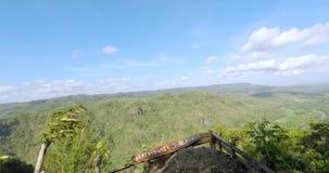 从Panguk小山的美好的时间间隔风景 股票视频