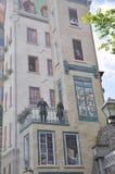 从Parc de la Cetiere Old魁北克市的壁画细节在加拿大 库存照片