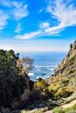 从Partington小海湾足迹的垂直的看法 库存照片