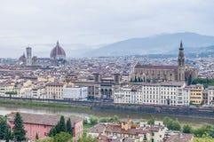 从Piazzale看见的佛罗伦萨米开朗基罗,意大利 图库摄影
