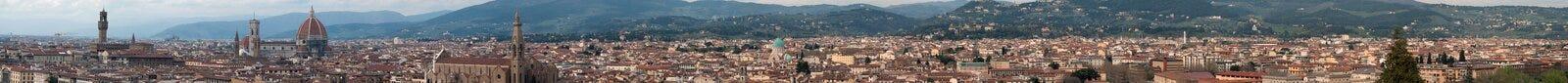 从Piazzale米开朗基罗的佛罗伦萨 库存照片