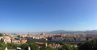 从Piazzale米开朗基罗的全景 免版税库存照片