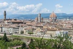 从Piazzale米开朗基罗,意大利的佛罗伦萨 免版税图库摄影