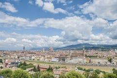 从Piazzale米开朗基罗,意大利的佛罗伦萨 库存照片