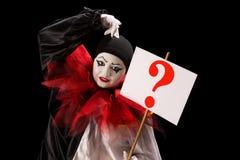 从Pierrot的问题 库存照片