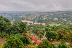 从Pindaya洞的一个看法在周围,掸邦,缅甸 免版税库存照片