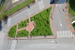 从Pirosmani街道的顶端看法 图库摄影