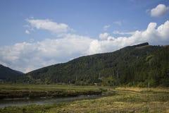 从Poiana Largului的Bistrita河 免版税库存照片