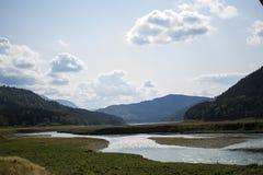从Poiana Largului的Bistrita河 库存图片