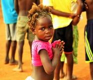从Quicabo,安哥拉的女孩 库存照片