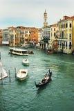 从Rialto桥梁看见的运河重创 免版税库存图片