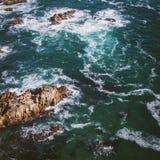 从robberg海岛的海景 图库摄影