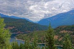 从Ross湖的看法俯视 库存图片