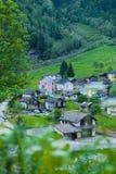 从Rossa村庄的小山的看法 库存图片