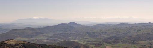从Ruy山顶的全景 免版税库存图片