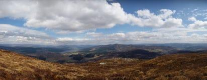 从Schiehallion,苏格兰的全景 免版税图库摄影