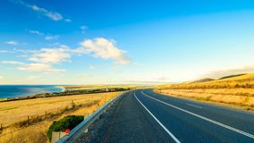 从Sellicks小山观看的全景风景,南澳大利亚 免版税库存图片