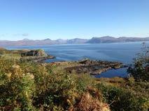 从skye小岛的看法  免版税库存照片