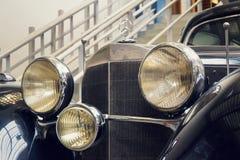 从SSObergruppenfuhrer使用的1939的奔驰车540 K汽车卡尔・赫曼・法兰克在全国技术博物馆站立 库存照片