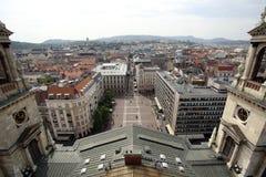 从Szent Istvan Bazilika的布达佩斯全景 免版税库存图片