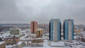 从timelapse上的哈尔科夫市在冬天 乌克兰 股票视频