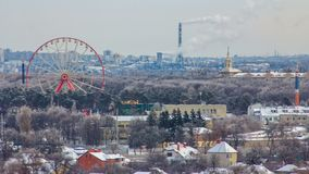 从timelapse上的哈尔科夫市在冬天 乌克兰 影视素材