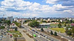 从timelapse上的哈尔科夫市 乌克兰 股票视频