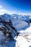 从Titlis的山全景 免版税库存图片